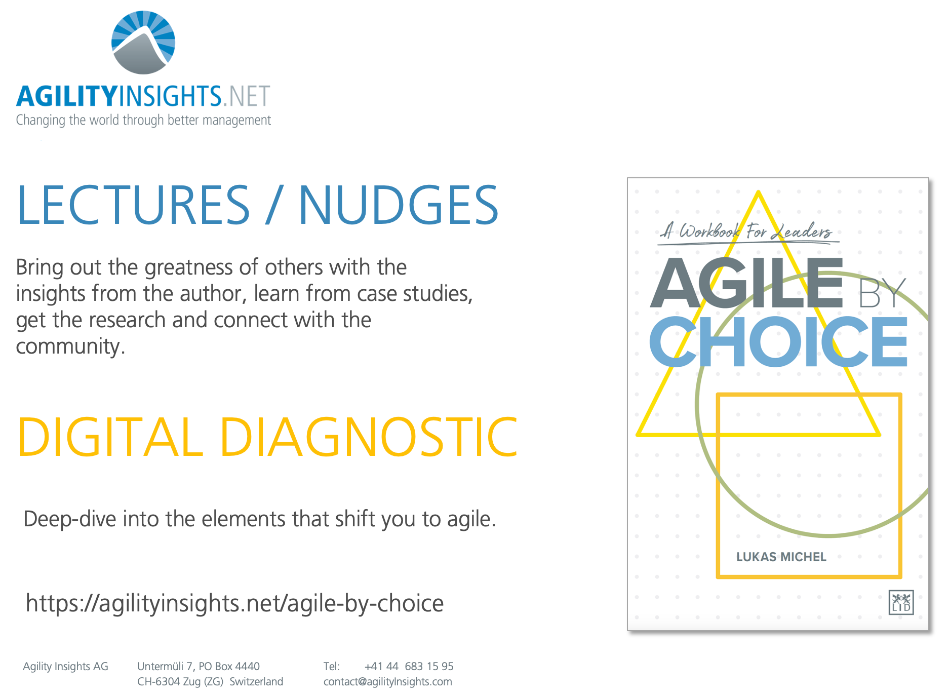 Agile by Choice - Lectures and Diagnostic
